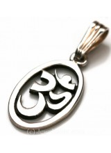 1 Sterling Silver .925 Oval Cut Out Patterned Pendant 22mm ~ Limited Editions Collection