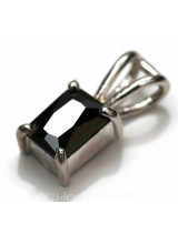 1 Sterling Silver .925 Black Onyx Coloured Crystal Pendant 13mm ~ Limited Editions Collection