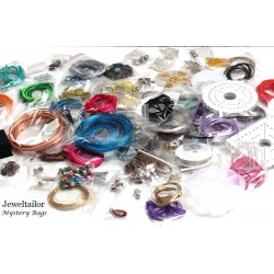 80 Grams Mystery Bag of Beads & Findings ~ Quality Mixed Jewellery Making Items In a Great Value Pack