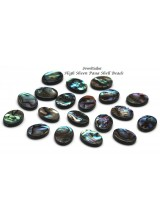 10-40 Premium Quality Oval Paua (Abalone) Shell Pendant Beads 16mm ~ Double Sided With A High Sheen Finish