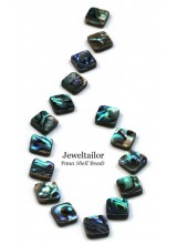 10-40 Premium Quality Paua (Abalone) Shell Square Beads 14mm ~ Double Sided With A High Sheen Finish