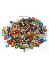 NEW! 10 Grams (600-1000) High Gloss Mixed Seed Beads 4mm-6mm ~ FREE BEADS