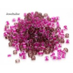 20 Grams Blushing Pink Mixed Round Glass Seed Beads 4mm Size 6/0 ~Jewellery Making Essentials