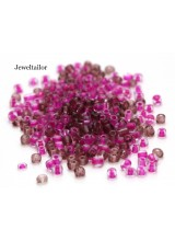 25 Grams Blushing Pink Mixed Round Glass Seed Beads 4mm Size 6/0 ~Jewellery Making Essentials
