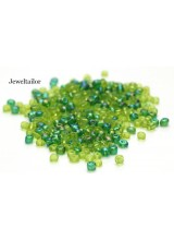 25 Grams Forest Green Mixed Round Glass Seed Beads 4mm Size 6/0 ~Jewellery Making Essentials