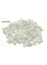 25 Grams Pearly Queen & Ice White Mixed Round Glass Seed Beads 4mm Size 6/0 ~Jewellery Making Essentials