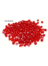25 Grams Flamenco Red Mixed Round Glass Seed Beads 4mm Size 6/0 ~Jewellery Making Essentials