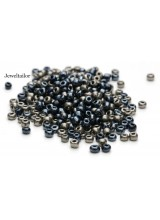 25 Grams Catwalk Black & Platinum Grey Mixed Round Glass Seed Beads 4mm Size 6/0 ~Jewellery Making Essentials