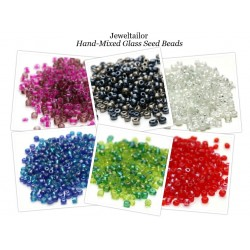 150 Grams Wholesale Pack Of 4mm (Size 6/0) Mixed Seed Beads ~ 6 Hand Blended Colours In 1 Value Pack