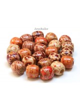 20-100 Mixed Large Hole Wooden Ethnic Hair Or Stringing Barrel Beads 16mm With 7mm Holes~ Lead Free For Stylish Designs