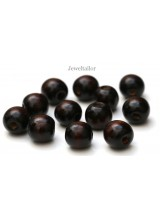 NEW! 20-100 Dark Coconut Brown Large Hole Wooden Stringing or Hair Beads 16mm With 8mm Holes ~ Lead Free For Stylish Designs