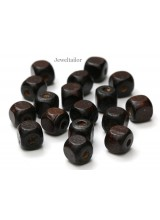 NEW! 20-100 Dark Chestnut Brown Wooden Cube Beads 10mm With 3.5mm Holes ~ Lead Free For Stylish Designs