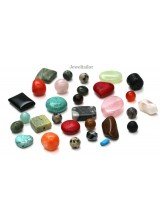 50-200 Grams Quality Mixed Gemstone Semi Precious Beads  ~ May Include Quartz, Turquoise, Jasper  & More