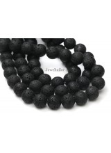NEW! 1 Strand Of Premium Quality Round Black Natural Lava Semi-Precious Gemstone Beads 12mm ~ For Fine Jewellery Making