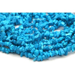 "NEW! 1 Full 32"" Strand Of Quality Turquoise Howlite Gemstone Chip Beads 5-8mm ~ For Fine Jewellery Making"