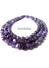 NEW! 1 Strand Of Premium Quality Round Faceted Amethyst Semi-Precious Gemstone Beads 8mm ~ For Fine Jewellery Making