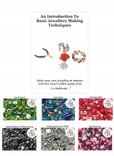 New! Beginners Jewellery Making Guide Book With Deluxe Glass Beads, Free Luxury Gift Bag + Bonus Metal Beads!
