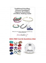 NEW! Braiding, Knotting & Kumihimo Jewellery Making Guide Book With FREE Kumihimo Disk, Silky Cord, Gift Bag + Bonus End Beads!