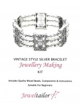 Silver Vintage Design Bracelet Jewellery Making Kit + FREE Luxury Gift Bag ~ No Tools Required & A Perfect Gift Or Treat For A Creative Person