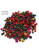 NEW! 150 Mixed Lead Free Small Wooden Beads 4-8mm~ FREE BEADS