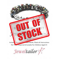 Boys Name Bracelet Jewellery Making Kit With 200+ Quality Mixed Beads, Elastic, Instructions +FREE Luxury Gift Bag~ Perfect For Parties, Indoor Craft Activities & Gifts