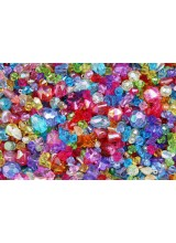 150-450 Hand Mixed Children's Sparkly Beads 4-16mm ~ Various Styles With A High Sheen Finish + Elastic Option - Ideal For Craft Activities & Parties