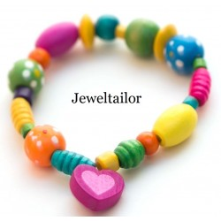 NEW! 50 Mixed Large Colourful Children's Wooden Heart Beads 18mm ~ Ideal For Craft Activities & Parties