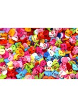 NEW! 100 Hand Mixed Children's Colourful Buttons 10-12mm ~ Various Styles & Ideal For Craft Activities, Sewing  & Parties
