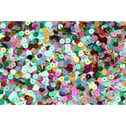 Bumper Pack Of 1,500 Mixed Children's Sparkly Sequins 6mm ~ Ideal For A Range Of Craft Activities & Parties