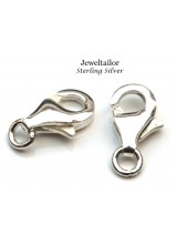 2-10 Shiny .925 Sterling Silver Hallmarked Lobster Clasps 9mm With Integrated Jump Ring ~ Fine Jewellery Making