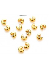 50-200 Shiny Gold Plated Nickel Free Crimp Bead Covers 3mm ~ Jewellery Making Essentials
