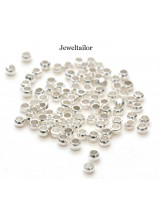 NEW! 200-1000 Silver Plated Nickel Free Round Crimp Beads 2mm ~ Jewellery Making Essentials