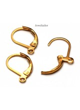 NEW! 10-50 Shiny Gold Plated Lead & Cadium Free Lever Back Hinged Earring Findings 15mm ~ Jewellery Making Essentials