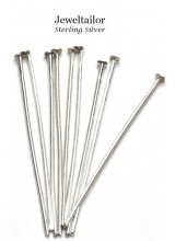 10-40 Quality .925 Sterling Silver Headpins 50mm (2 Inch)   ~ Fine Jewellery Making