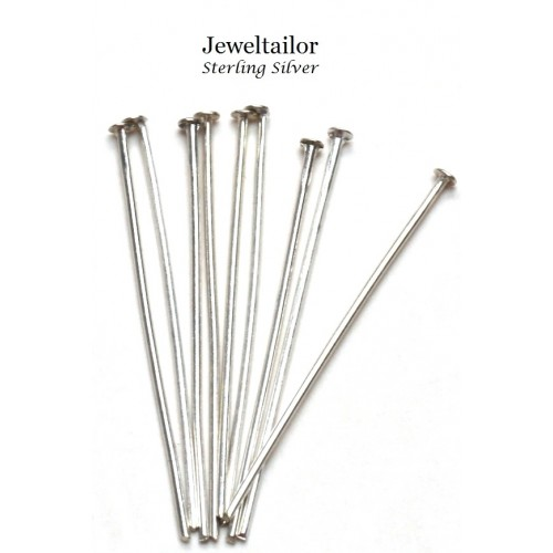 10 40 Quality 925 Sterling Silver Headpins 50mm 2 Inch Fine