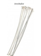 50-200 Shiny Silver Plated Nickel Free Super Straight Extra Long Headpins 70mm ~ Jewellery Making Essentials