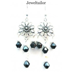 10 Stunning Bali Style Silver Plated 3 Hole Earring Chandeliers 23mm ~ Limited Editions Collection
