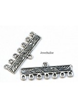 24 Piece 7 Strand Set For Multi Strand Designs ~ With 20 Spacer Bars and 4 Nickel Free End Beads
