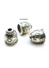 10-50 Tibetan Silver Large Nickel & Lead Free Bead End Caps 11mm Ideal For Kumihimo ~ Quality Stylish Flower Design