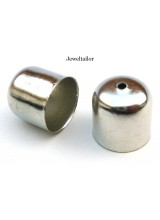 10-50 Silver Plated Large Bell Style Bead End Caps 12mm x 12mm Ideal For Kumihimo ~ Jewellery Making Essentials