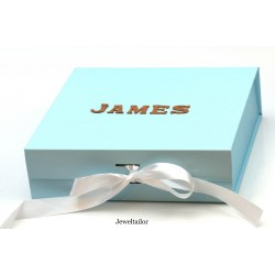 NEW! 1 Luxurious Baby Pink Ribbon Tie Square Gift Box 22.5cm (8.9 Inches) With Changeable Ribbon ~ An Ideal Gift, Keepsake or Presentation Box