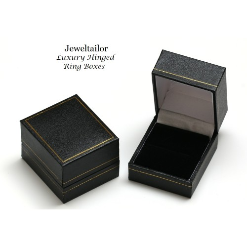 1 Luxury Leather Effect Black Hinged Ring Box 4.7cm ~ With Quality Lined Interior ~ An Ideal Gift Box  sc 1 st  Jeweltailor & NEW! 1 Luxury Leather Effect Black Hinged Ring Box 4.7cm ~ With ... Aboutintivar.Com