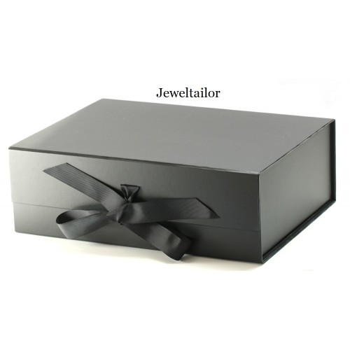 1 luxurious extra large black grosgrain ribbon tie gift box 33cm an ideal