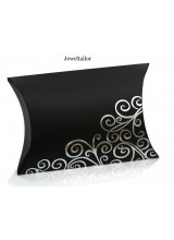 NEW! 1 Extra Large Luxury Black & Silver Swirl Pillow Box 17.8cm (7 Inch) ~ An Ideal Gift or Presentation Box