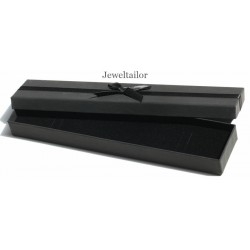 NEW! 1 Luxurious Black Bracelet or Watch Jewellery Gift Box With Satin Ribbon Bow 22.5cm (8.9 Inches)