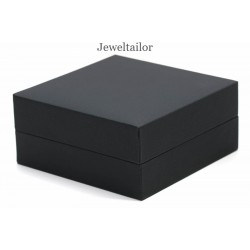 NEW! 1 Premium Quality Satin & Velvet Lined Black Universal Jewellery Gift Box 9cm ~ For Necklaces, Bracelets, Earrings, Watches + More