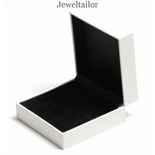1 Premium Quality Satin Velvet Lined White Universal Jewellery Gift Box 9cm For Necklaces Bracelets Earrings Watches More