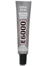 NEW! E6000 Industrial Strength Jewellery & Craft Glue 5.3ml (0.18 oz) ~ Ideal For Setting Swarovski 1122 Rivoli Beads, Rhinestone & More ~ Dries Clear For a Professional Finish