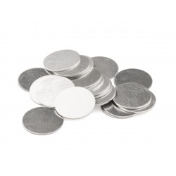NEW! 10 Impressart Silver Aluminium Large Round Metal Stamping Blanks 25mm (1 inch) ~ Soft Strike With No Hole