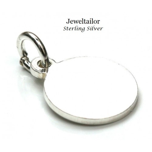 1-10 Sterling Silver  925 Round Metal Stamping Blank, Tag or